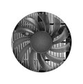 Fan with heatsink closeup isolated on white Stock Photo