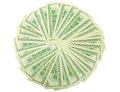 Fan from number of dollar banknotes Stock Photo