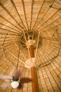 Fan Under Bamboo Roof Stock Photos