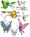 Fanciful butterfly spot illustrations Royalty Free Stock Image