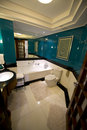 Fancy bath bathroom in luxury resort hotel or at a plush the room is a place that speaks class class and is ritzy Stock Images
