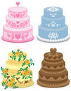 Fancy cakes for occasions. Stock Photos