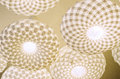 Fancy ceiling lamps white modern on the Royalty Free Stock Photo