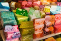 Fancy colored hand made blocks of soap Royalty Free Stock Photo