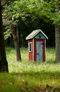 Fancy Country Outhouse Royalty Free Stock Photo