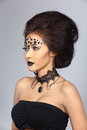Fancy Creative Talent Make up and Hair style on Asian Beautiful Royalty Free Stock Photo