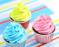 Fancy cup cake Stock Photos