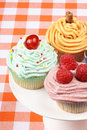 Fancy cupcakes assortment Stock Photography