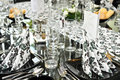 Fancy dinner table set Royalty Free Stock Photo