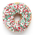 Fancy doughnut on white background Royalty Free Stock Images