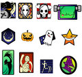 Fancy and extreme halloween symbol set create by vector Stock Images