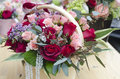 Fancy flowershop a market with flowers in baskets and nice decorations Royalty Free Stock Image