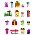 Fancy gift box set Royalty Free Stock Photos