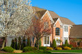 Fancy Home in Spring Stock Images