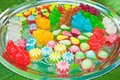 Fancy jelly variety in tray Stock Photo