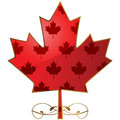 Fancy maple leaf concept illustration showing a canadian Stock Photo
