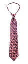 Fancy necktie isolate on white background Royalty Free Stock Photography