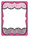 Fancy pink and gray frame printout with lace