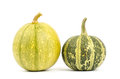 Fancy pumpkin on white background Stock Photography