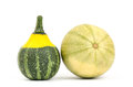 Fancy pumpkin on white background Stock Photo