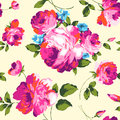 Fancy roses colorful big print seamless background Stock Image