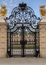 Fancy Royal Estate Gate Royalty Free Stock Photography