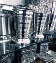 Fancy silver home decor items Royalty Free Stock Image