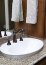 Fancy sink with hand towel Stock Image