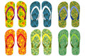 Fancy slipper colorful and for beach Royalty Free Stock Photos
