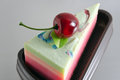 Fancy soap in cake form with cherry Royalty Free Stock Photo