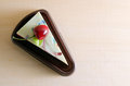 Fancy soap in cake form with cherry on the top with blank space Royalty Free Stock Photo