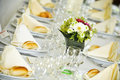 Fancy table settings Royalty Free Stock Photo