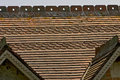 Fancy tiled roof red pattern Stock Image