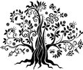 Fancy tree vector art Royalty Free Stock Photo