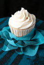 Fancy Vanilla Cupcake Royalty Free Stock Photo