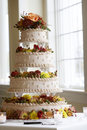 Fancy wedding cake Royalty Free Stock Image