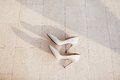 Fancy wedding shoes Royalty Free Stock Photo