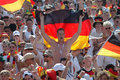 Fanmeile berlin june fans of the german team at the during the soccer world championship in germany Royalty Free Stock Photo