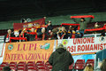Fans of AS Roma at a match Royalty Free Stock Photo
