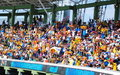 Fans cheer on the Lions at Cricket World Cup Match