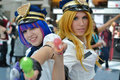 Fans in costume at an LA Anime Expo 2012 Royalty Free Stock Photo