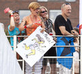 Fans and supporters during triathlon szczecin race poland july first Royalty Free Stock Photo