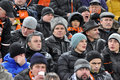 Fans watching the team Shakhtar football match Royalty Free Stock Images