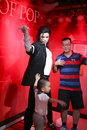 Fans with wax figure of michael jackson
