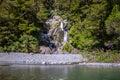 Fantail Falls at Mt Aspiring National Park, New Zealand. Royalty Free Stock Photo