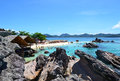 Fantastic beach fabulous rest on the mountains view and andaman sea thailand phuket similan islands Royalty Free Stock Images
