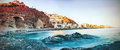 Fantastic beach the was photographed in one of towns in spain Royalty Free Stock Image