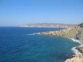 Fantastic beaches of greece on rhodes island Stock Photos