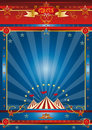 Fantastic blue circus Stock Image