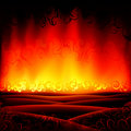 Fantastic burning hell scenery Stock Photos